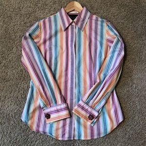 Striped Button Down w/ Cufflinks